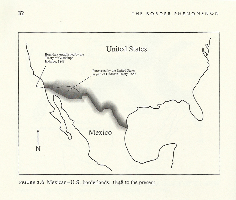 Ambiguous Maps And Border Shadows Towards A Gradient Divide - Us boundaries in 1853 map