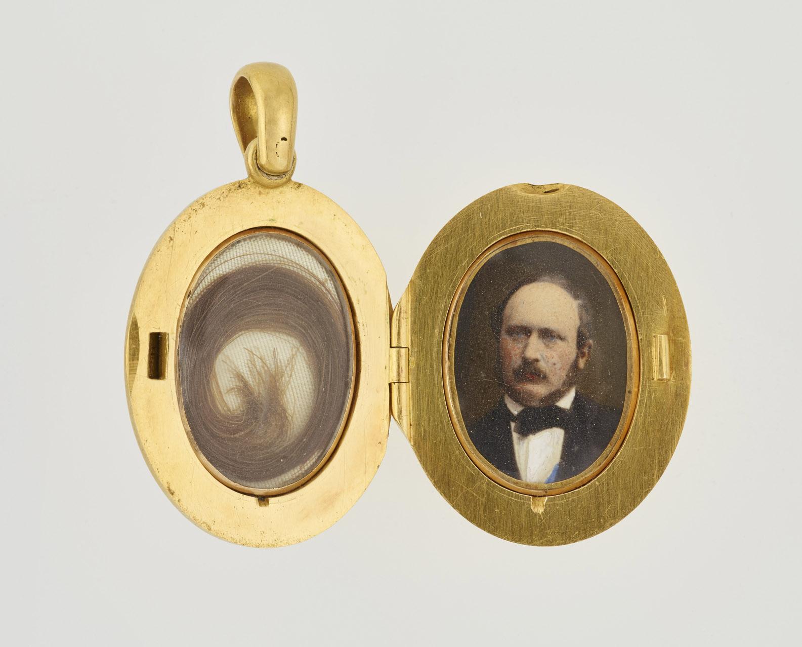Interior view of Queen Victoria's locket (via Royal Collection)