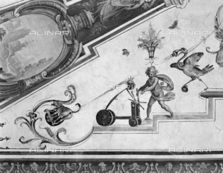 Grotesque fresco, 1599, Giulio Parigi, Uffizi Gallery, Room 17