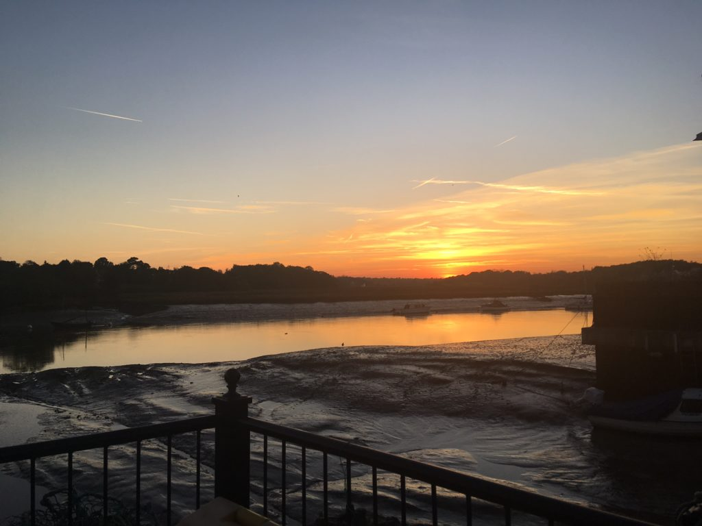 View from Wivenhoe jetty, Essex
