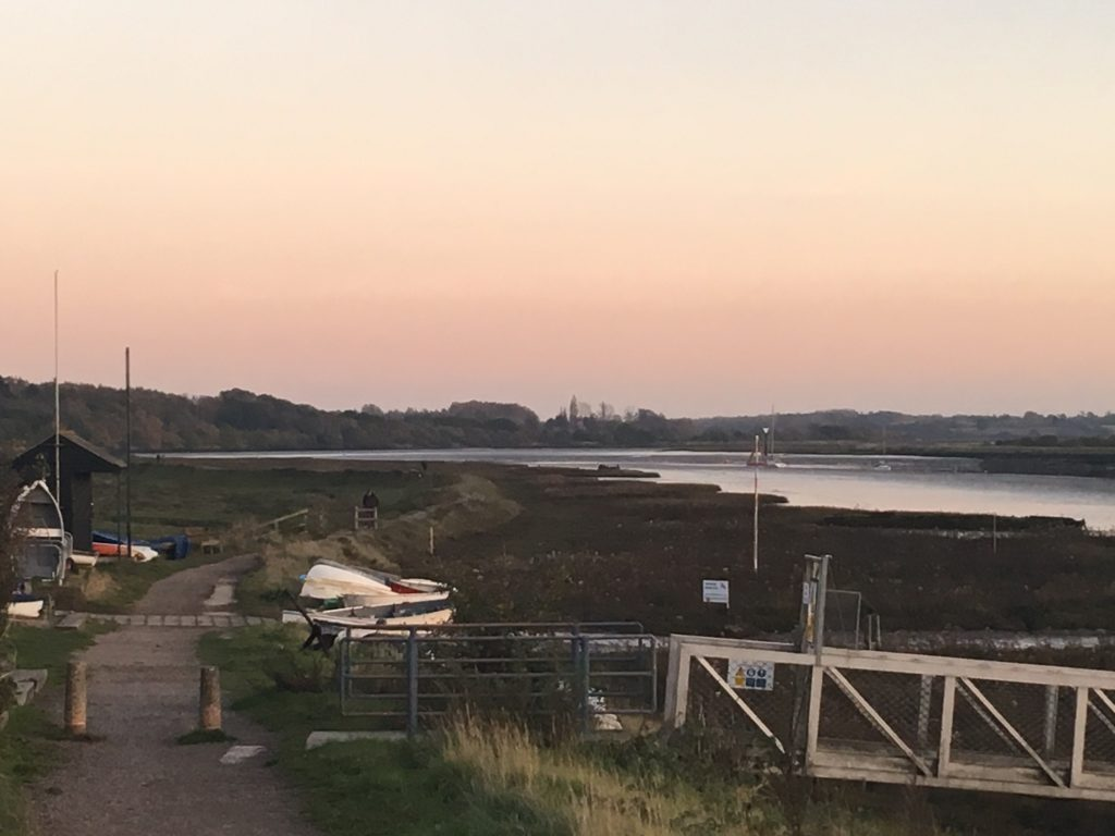 view from Wivenhoe to marshland, Essex